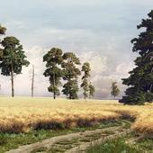 """Реплика картины Шишкина И.И. """"Рожь"""" 1878"""