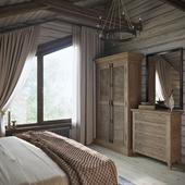 Спальня и бильярдная в загородном доме