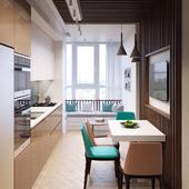 Кухня в квартире № 6 в Киеве