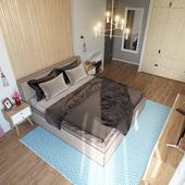 Спальня в квартире № 9 в Киеве