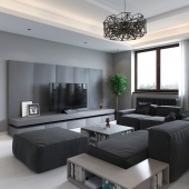 Minimalistic grey interior