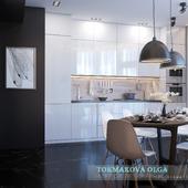 Дизайн проект квартиры холостяка в стиле контемпорари.