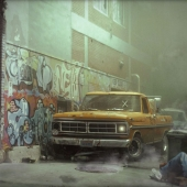 New York back alley