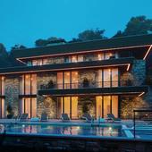 Дом с бассейном.