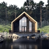 House under river