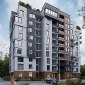 Визуализация экстерьера многоэтажного дома
