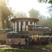 Кафешка в парке. A cafe in the park.