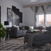 Гостиная в небольшой квартире в Нижнем