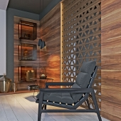 decorative perforated wall