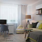 Однокомнатная квартира в скандинавском стиле