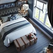 Спальня в синем