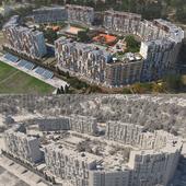 Разработка студенческого проекта жилого района и жилой группы в городе Одесса