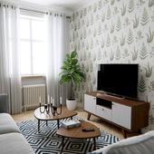 Kitchen Living room in Scandinavian style