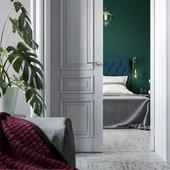 Рендер интерьера 2х-комнатной квартиры