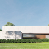 RESIDENCE PSW Exterior visualization. Govaert & Vanhoutte Architects