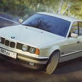 BMW E34 5er Дрифт в березняке