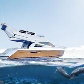 Визуализация моторной яхты