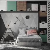 Спальня для девочки и мальчика