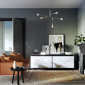Greyscale interior