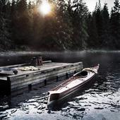 Каяк на озере