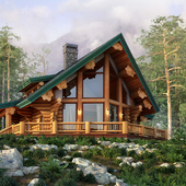 Дом на горном склоне
