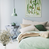 Mint bedroom