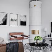 Небольшая гостиная из скандинавского дизайн проекта