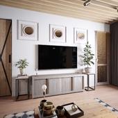 Vray Дизайн и визуализация небольшой квартиры.