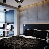 Bedroom, working place
