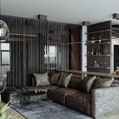 Мужская квартира в стиле лофт