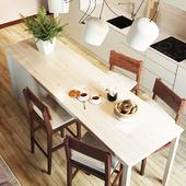 кухня гостиная