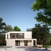 Экстерьер и интерьер односемейного дома в современном стиле в Германии