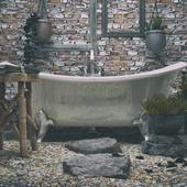 Ванная комната под открытым небом