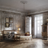 Bedroom in old classic style