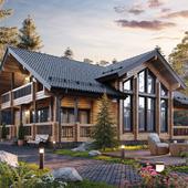 Визуализация финского дома