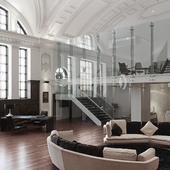 hotel interior (сделано по референсу)