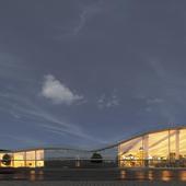 Проект многофункционального центра с оранжереей