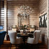 Дизайн интерьера и визуализация частного дома из бруса.