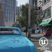 Street in unreal engine 4