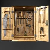 Шкаф с инструментами плотника