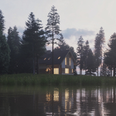 Дом у озера.