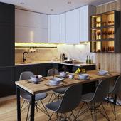 Гостиная, кухня