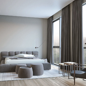 Contemporary bedroom in Dnepr