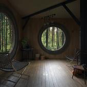 Домик в лесу(сделано по референсу)
