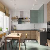 23 m кухня гостиная