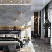 Peach&Stone bedroom