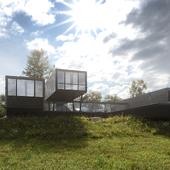 CGI:House in the Lake (сделано по референсу)