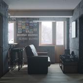 Дизайн-проект квартиры на 153 кв.м. - Комната отдыха.
