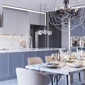 3D Визуализация кухни столовой