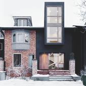 Ontario house winter( сделано по референсу)
